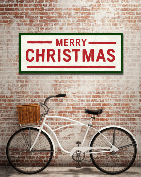Rustic Merry Christmas Sign by Transit Design.