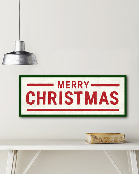 Vintage Merry Christmas Sign by Transit Design.