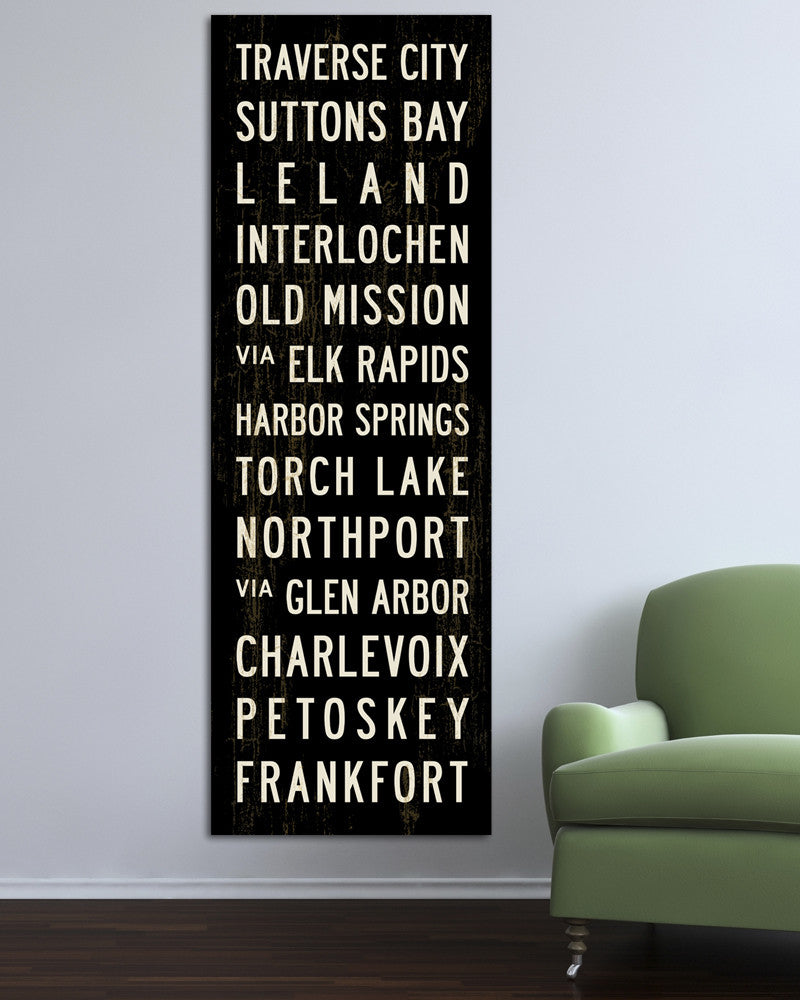 Michigan Bus Scroll or Subway Sign by Transit Design
