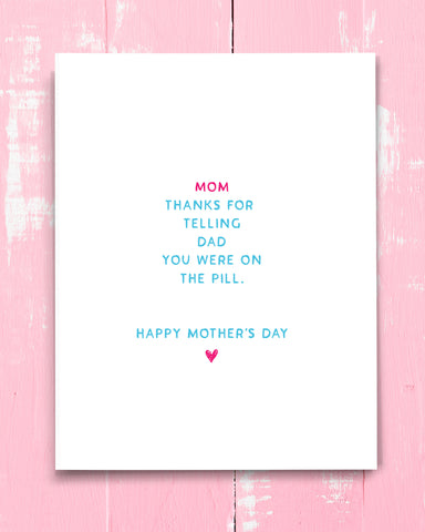Inappropriate Mother's Day card by Smirkantile.
