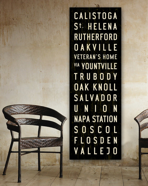 Napa Valley Bus Scroll or Subway Sign by Transit Design