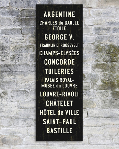 Paris Subway Art or Bus Scroll Sign.