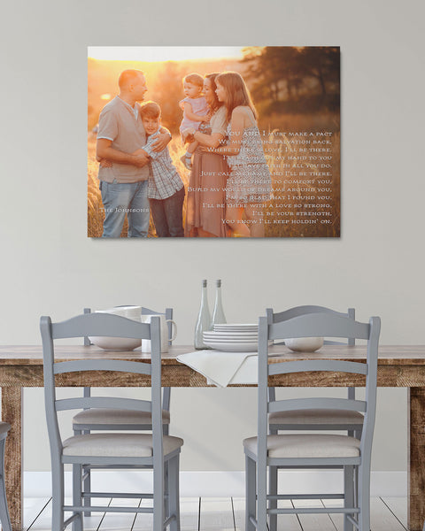 Custom Family Portrait with Text by Transit Design