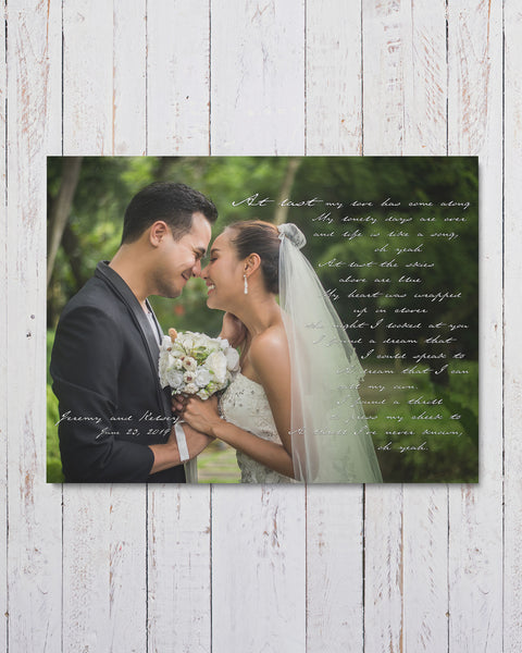 Personalized Wedding Photo Art by Transit Design