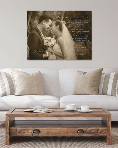Custom First Dance Lyrics, Wedding Photo Art by Transit Design
