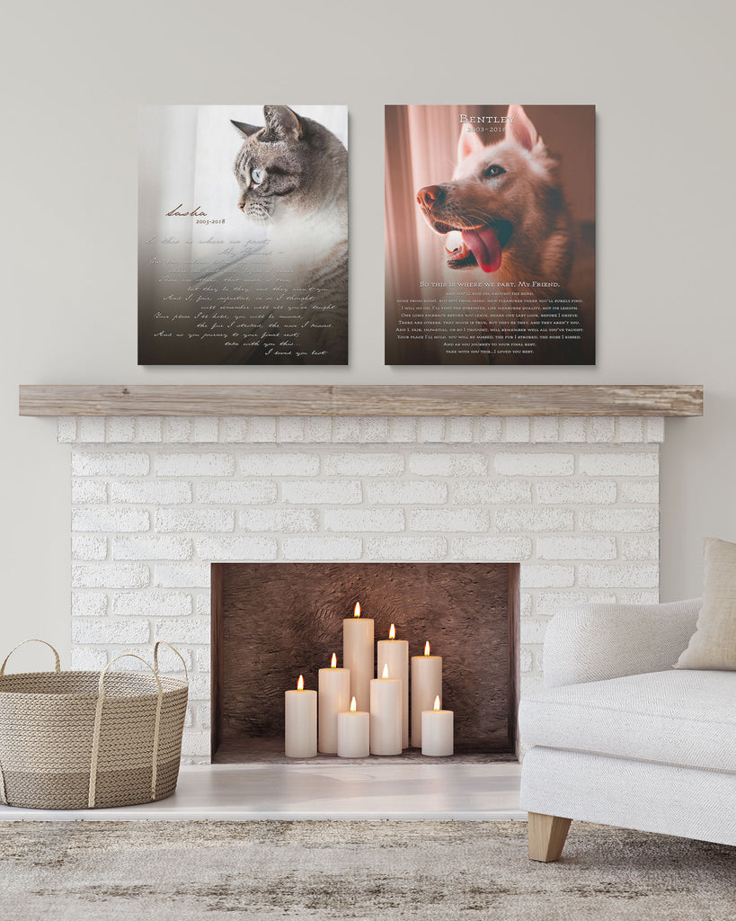 Pet Memorial Photo Canvas Art by Transit Design.