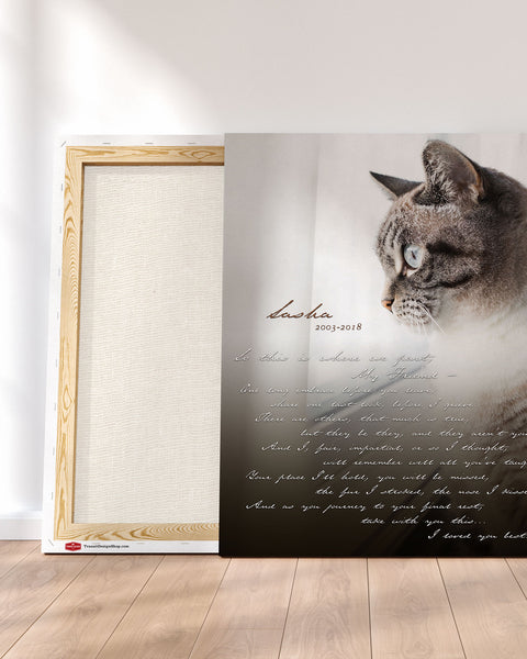 Custom Pet Memorial Photo Detail by Transit Design