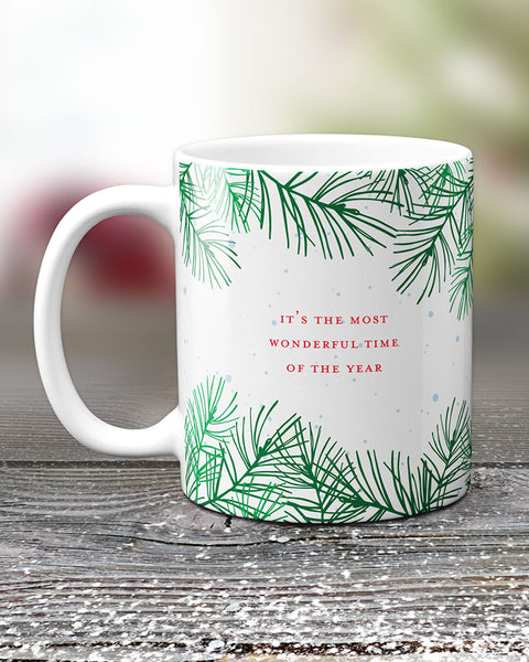 Most Wonderful Time of the Year Christmas Mug, Novelty Mugs by Smirkantile