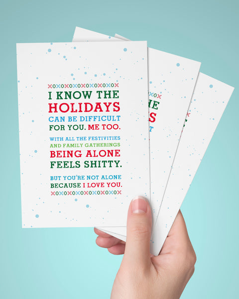 Shitty Holidays Christmas Card, Empathy.