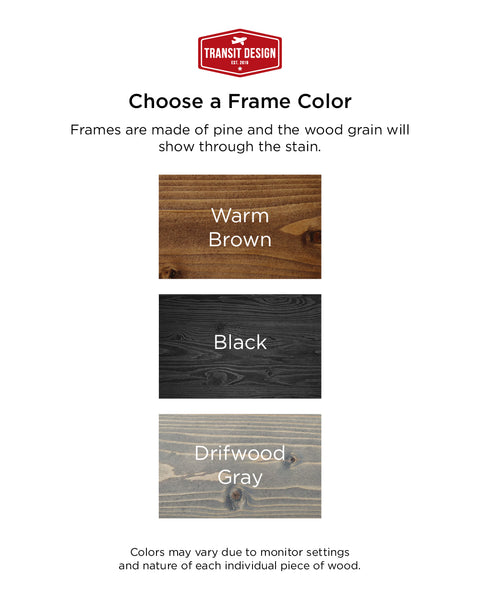 Farmhouse Signs by Transit Design, Frame Colors