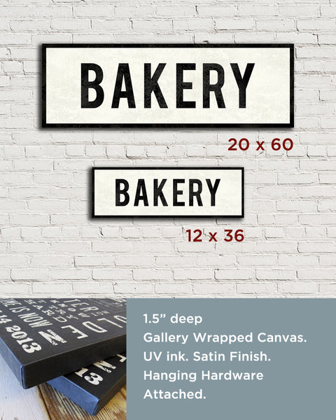 Bakery Sign Sizes