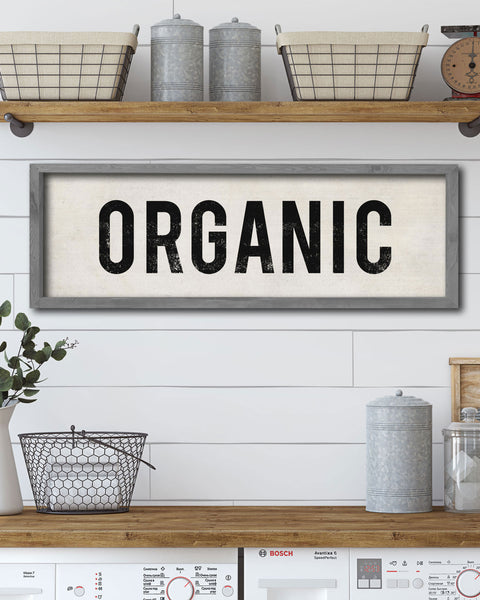 Organic Farmhouse Sign, Decorative Wooden Sign, Kitchen Art - Transit Design