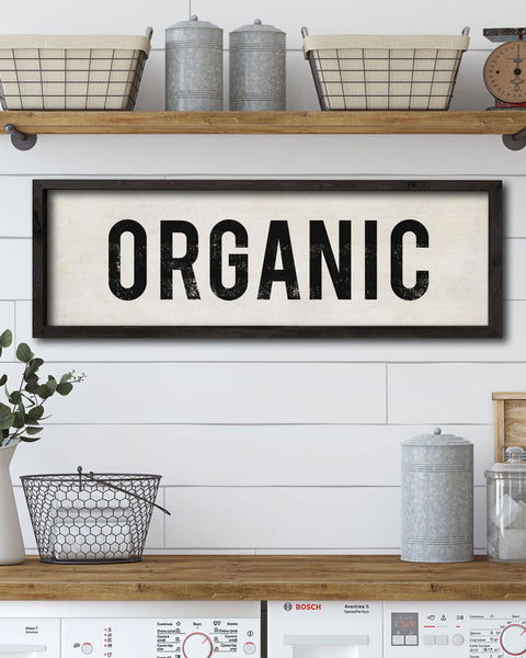 Organic Kitchen Sign, Decorative Signs by Transit Design