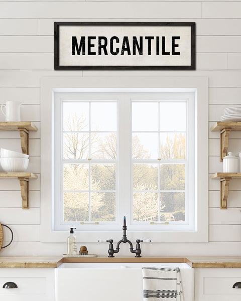 Wood Mercantile Sign, Vintage Kitchen Art by Transit Design