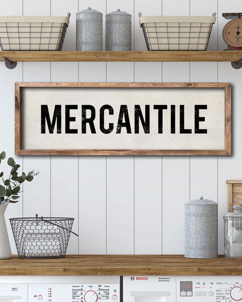 Vintage Mercantile Sign, Country Store Sign, Wall Signs by Transit Design