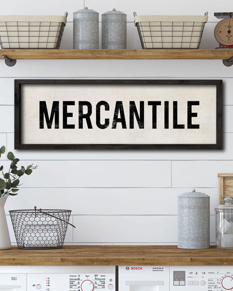 Vintage Mercantile Wall Sign - Transit Design.