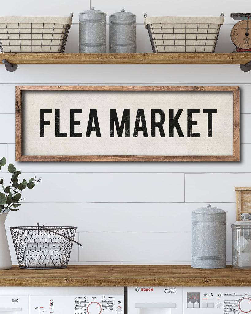 Farmhouse Style Flea Market Wall Sign by Transit Design
