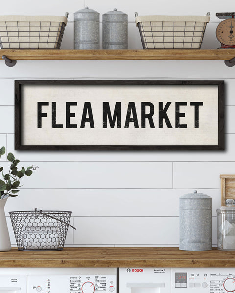 Vintage Style Flea Market Sign by Transit Design