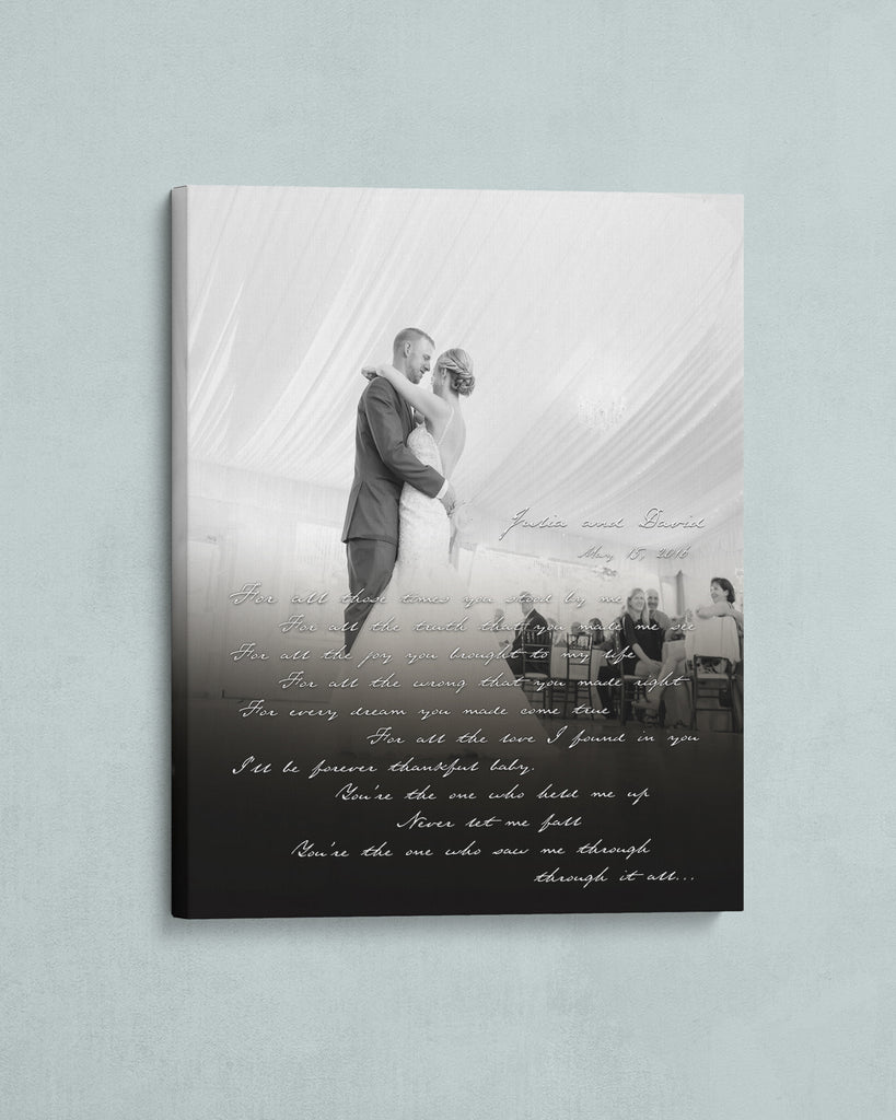 Custom First Dance Photo Canvas by Transit Design