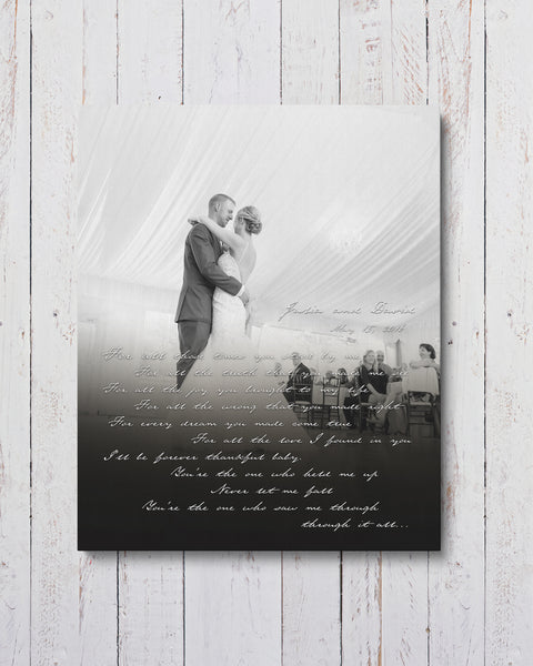 Personalized First Dance Wedding Photo Canvas by Transit Design