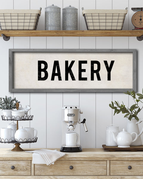 Decorative Bakery Sign, Kitchen Wall Art by Transit Design