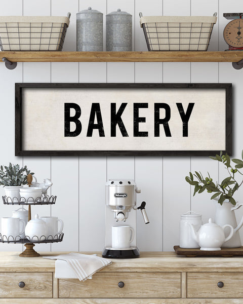 Vintage Wood Bakery Sign, Decorative Wall Signs by Transit Design