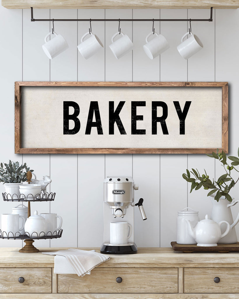 Vintage Bakery Sign, Kitchen Signs by Transit Design