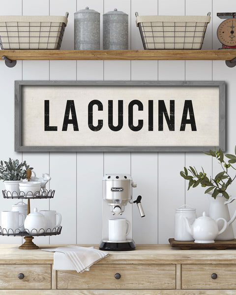 Italian Kitchen Decor, La Cucina Decorative Sign - Transit Design
