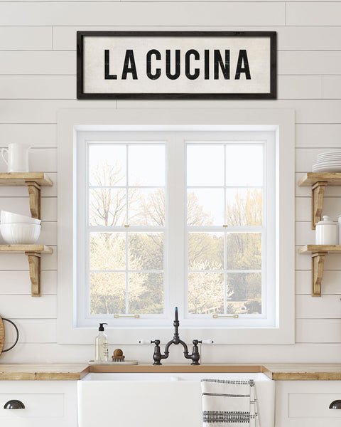 La Cucina Kitchen Signs, Tuscan Kitchen Decor - Transit Design