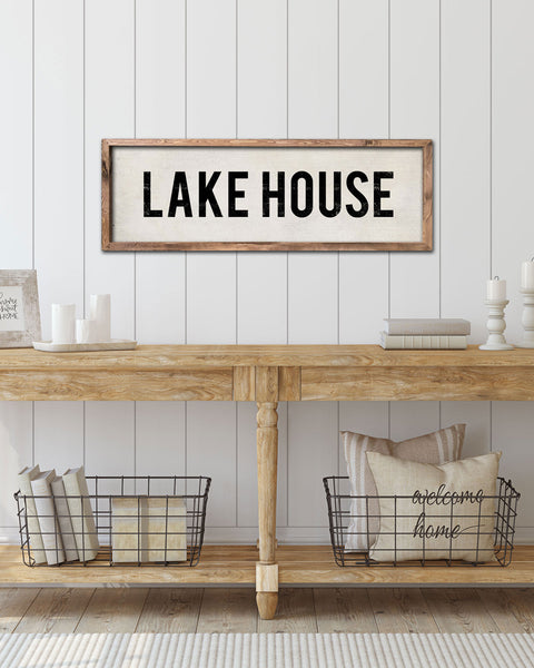 Wooden Lake House Sign, Lake House Decor by Transit Design