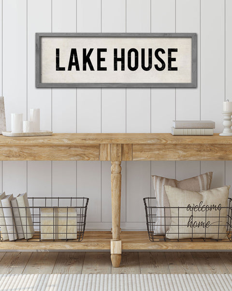 Lake House Sign, Wooden Signs, Decorative Signs by Transit Design