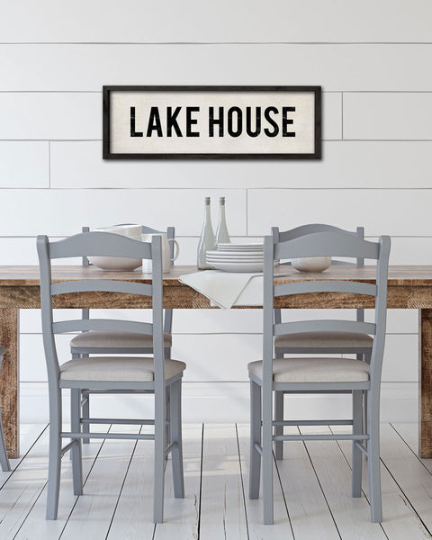 Decorative Lake House Sign, Lake House Decor, Wall Signs by Transit Design