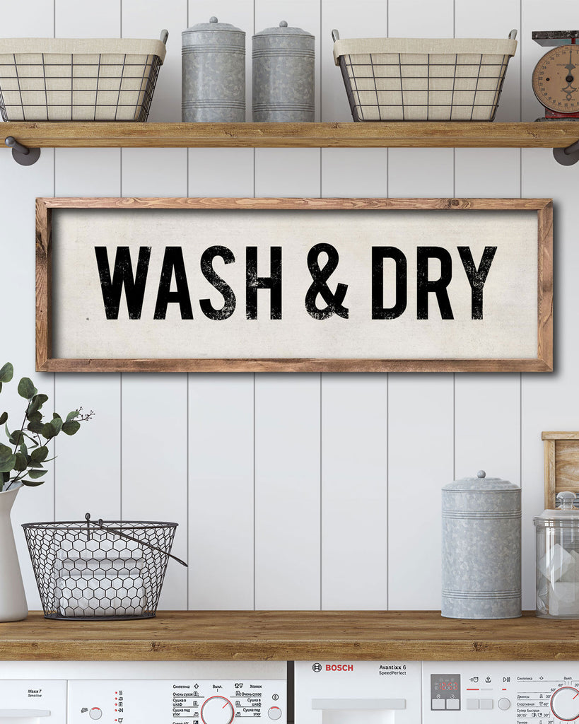 Laundry Room Decor, Vintage Laundry Sign by Transit Design