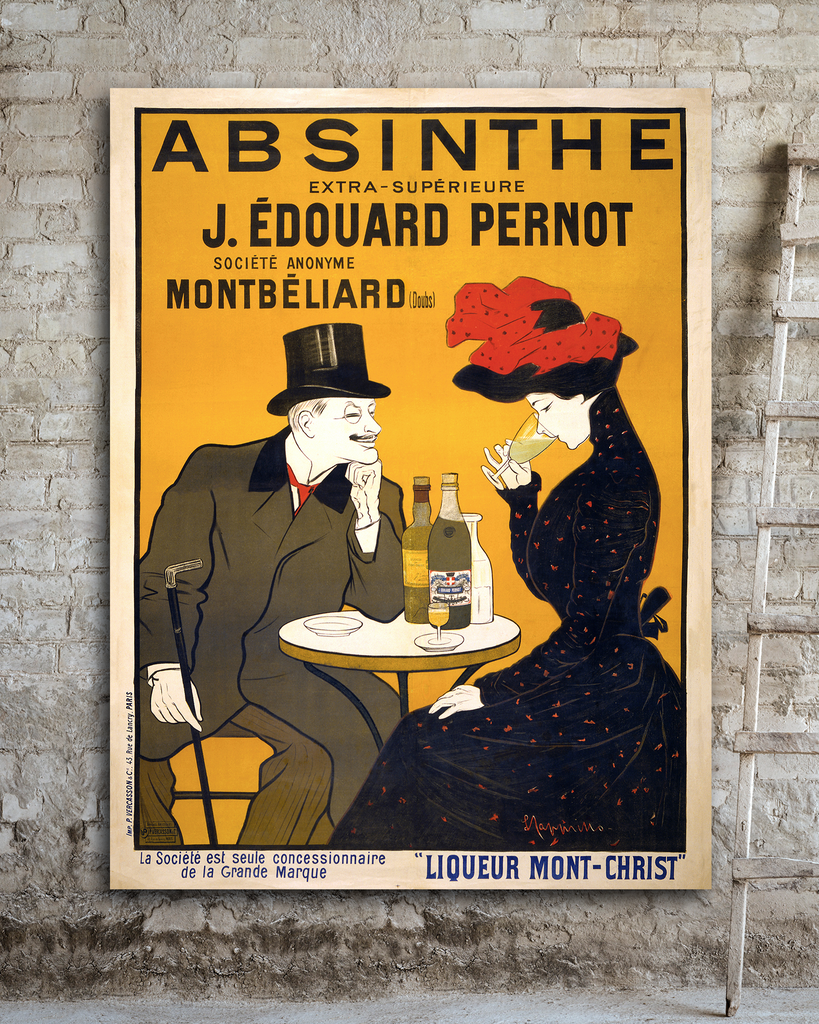Vintage Art Nouveau Poster, Absinthe Advertising Poster on ...