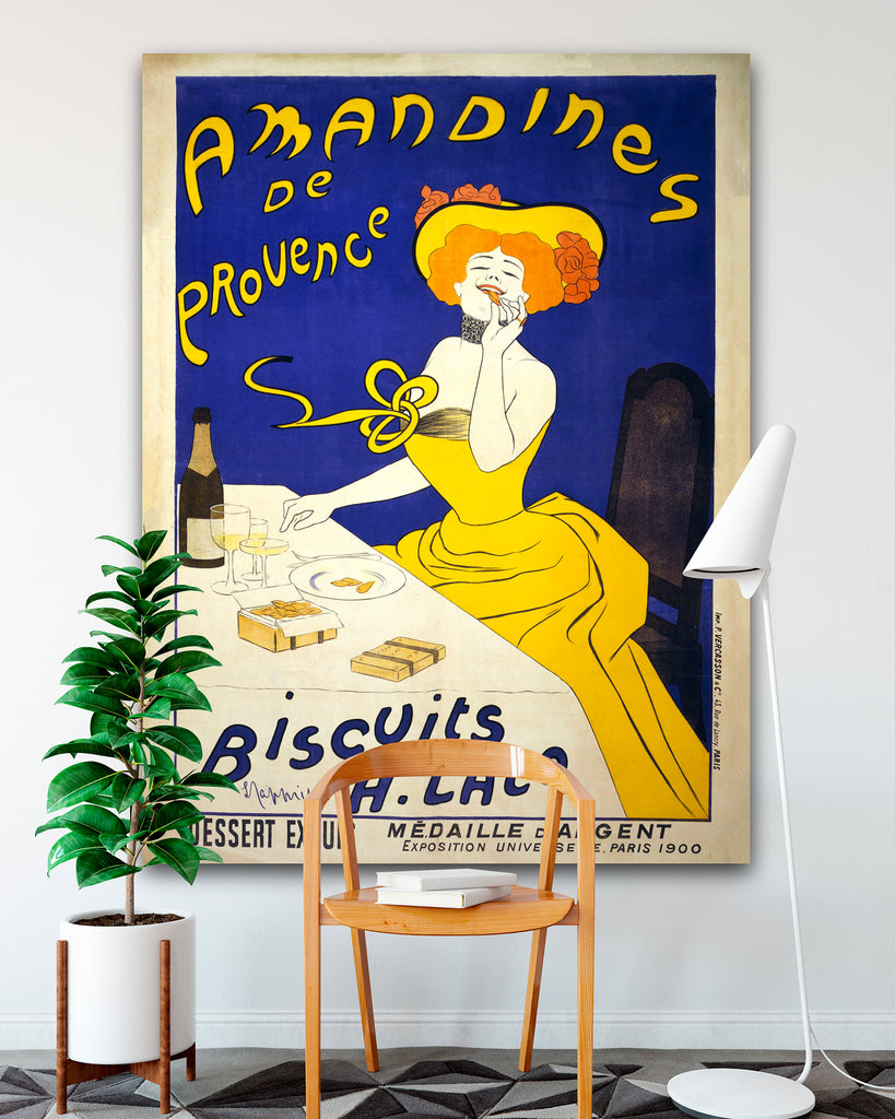 Amandines de Provence Advertising Poster Canvas, Leonetto Cappiello ...
