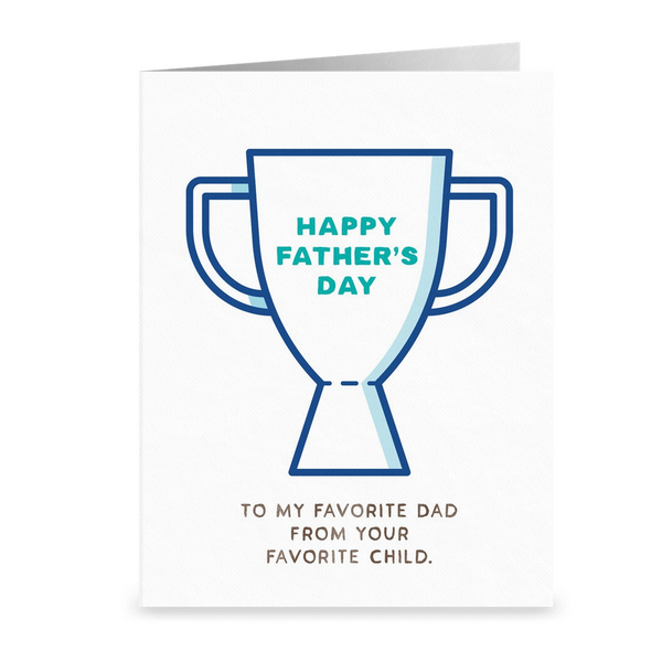 Favorite Dad Father's Day Card. (MF106)
