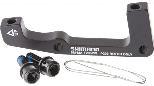 Shimano - Disc brake adapter for Post Mount caliper, Front, ISO fork, 203mm rotor