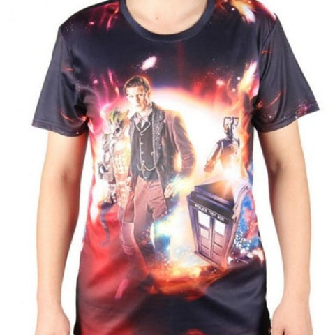 Summer Cheap Men's T Shirts Doctor Who Double Printing Casual Fitness - Gi Gi's Gift Guide