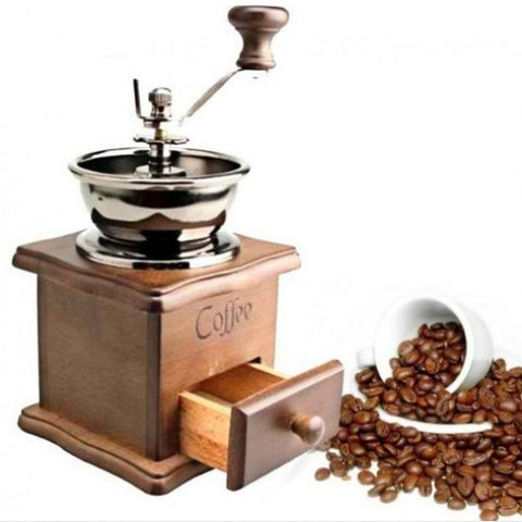 Wooden Vintage Hand Coffee Grinder - Gi Gi's Gift Guide