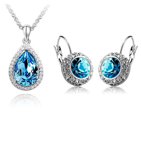 Luxurious Pendant Necklace & Earring Set - Free Shipping - Gi Gi's Gift Guide
