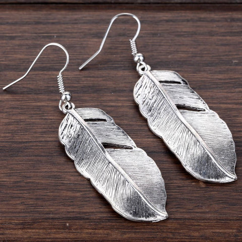 Silver Plated Feather Earrings - Free Shipping - Gi Gi's Gift Guide