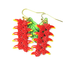 beaded heliconia flowers
