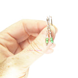 Tiny Pea Pod Earrings - 2 Peas in a Pod - Rose Gold
