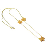 Heart in Hawaii Lei Flower Necklace - 3 Plumeria on 30-inch chain - Mango