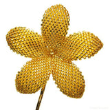 Heart in Hawaii Beaded Plumeria Flower - Sparkly Gold Crystal