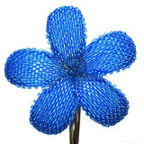 Heart in Hawaii Beaded Plumeria Flower - Ocean Blue