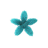 Heart in Hawaii Beaded Plumeria Flower - Aqua Blue - Small