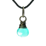 Heart in Hawaii Kahiko Pendant - Light Blue Chalcedony