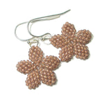 Heart in Hawaii Tiny Beaded Plumeria Flower Dangles - Beige
