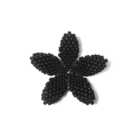 Heart in Hawaii Beaded Plumeria Flower - Black Lava - 3 sizes